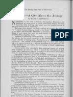 City Profile Redlands California 1924 by Ralph C. Huntington