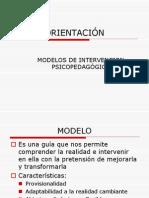 Modelos de Intervencion en Orientacion