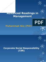 Advanced Readings in Management
