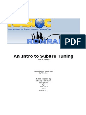 An Intro to Subaru Tuning   Turbocharger   Rotating Machines