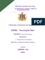 Protocolos y Estructura de Página Web