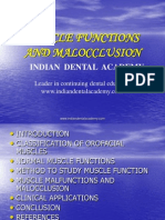 Muscle Function in Orthodontics / orthodontic courses by Indian dental academy