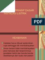 Prinsip-prinsip Dasar Instalasi Listrik