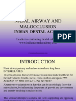 Nasal Airway and Malocclucion / orthodontic courses by Indian dental academy