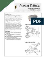 80460034Brake Actuators for OEM Drive Axles