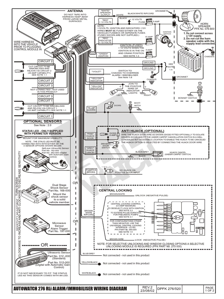 Autowatch Car Alarm Wiring Diagram : Autowatch rli diagram wiring images