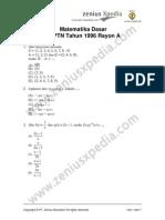Matematika Dasar SPMB 1996