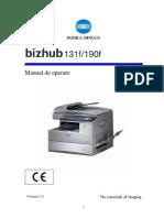 Manual Operare 131f / 190f RO