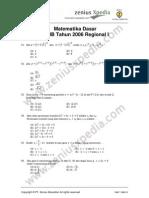 Matematika Dasar SPMB 2006