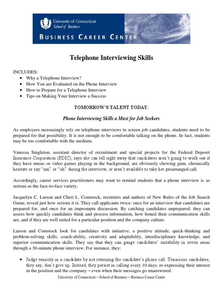 telephone interviewing skills interview nonverbal communication - Phone Interview Tips For Phone Interviews