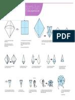 Origami 8petal Flower Print
