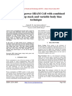 Design of low power SRAM Cell with combined