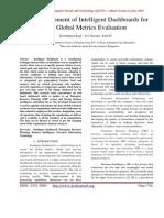Development of Intelligent Dashboards for Global Metrics Evaluation