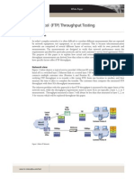 FTP Throughput Testing