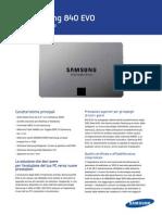 Samsung SSD 840 EVO Data Sheet ITA-0