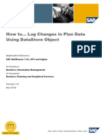 How to Log Changes in Plan Data Using DataStore Object