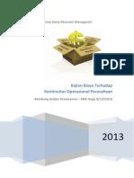 Kertas Kerja Analisis Biaya