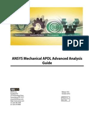 ANSYS Mechanical APDL Advanced Tutorials | Monte Carlo Method