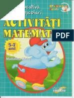 Carte Educativa Pentru Prescolari Activitati Matematice 5 7 Ani
