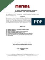 Convocatoria 3era Asamblea Municipal de Morena...