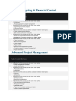 Courses of Construction ManagementProject Budgeting