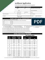 2013 Enrollment Application
