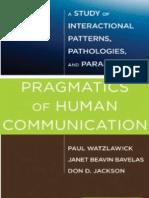 95625504 Watzlawick 1967 Beavin Jackson Pragmatics of Human Communication