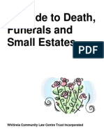 A Guide to Death Funerals and Small Estates 2010