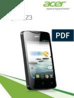 Acer Liquid Z3 Manual
