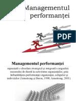 Managementul performanţei