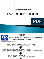 Awareness on ISO 9001 2008 Presen