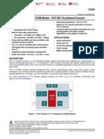CC3000 Wifi Module Datasheet