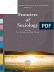 FRONTIERS of SOCIOLOGY. Intertational Institute of Sociology
