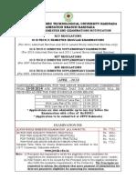 Notification Btech II II End Exams