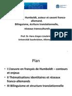 Hans-Jürgen Lüsebrink - Alexander von Humboldt, auteur et savant franco-allemand. Bilinguisme, écriture translationnelle, réseaux transculturels