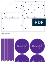 Invite Signs Placecards Color Printables