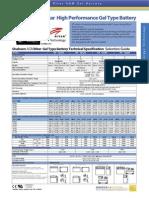 Ritar agm / gel battery datasheet