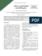 Síntese e Caracterização Do [Ni(NH3)6]Cl2