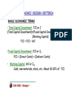 Economic Design Criteria