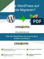 Wie Sie WordPress auf Joomla Migrieren?
