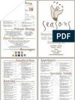 Seasons Menu - Hattiesburg