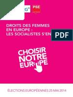 Droits des femmes en Europe, les socialistes s'engagent #changeEurope