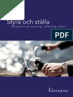 Styra och ställa - perspektiv på styrning i offentlig sektor