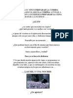 LA CASA DE LOS  NIÑOS PREPARAR LA COMIDA