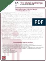 Preparation for Senior Finance Positions