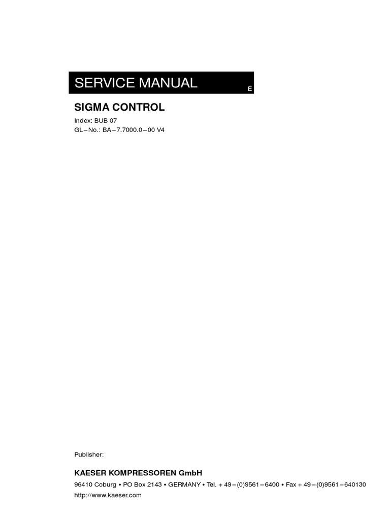Kaeser Compressor Sigma Control Manual | Power Supply | Light Emitting Diode