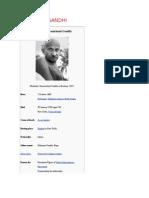 Mahatama Gandhi