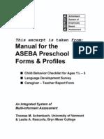 ASEBA Reliability & Validity-Pre-school