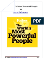 The World's Most Powerful People-2009 by FORBES