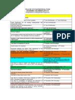 Academic Calender 2014-15
